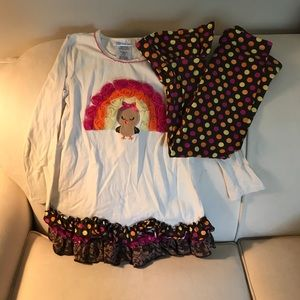 Bonnie Jean Thanksgiving outfit. Size 6